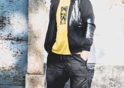 Męskie bluzy z kapturem ręcznie malowane