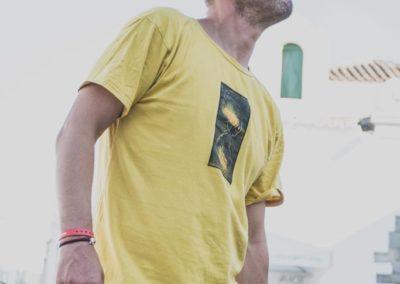 Odzież męska ręcznie malowana
