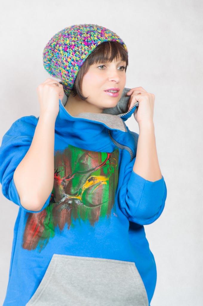 Bluzy unisex ręcznie malowane