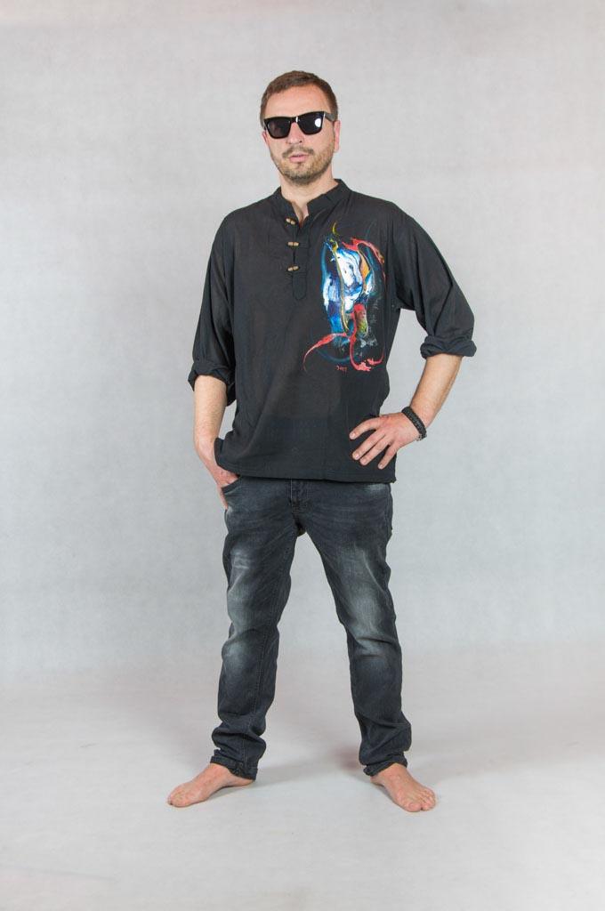 Koszule indie ręcznie malowane